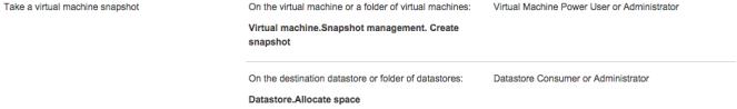 Take a virtual machine snapshot